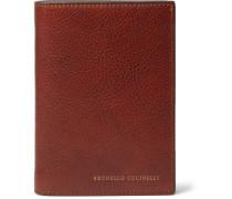Burnished Full-Grain Leather Passport Holder