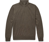 Merino Wool Zip-through Sweater