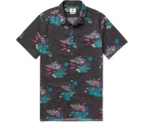 Slim-fit Printed Cotton-poplin Shirt