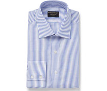 Slim-Fit Striped Cotton-Poplin Shirt