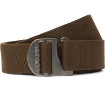 Tan Togiak 4cm Leather-Trimmed Webbing Belt
