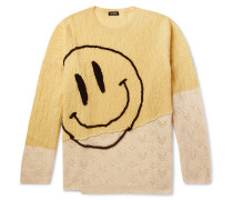 Oversized Embroidered Merino Wool Sweater