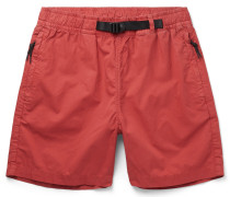 Belted Cotton-Twill Shorts