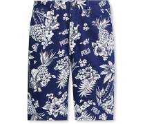 Printed Cotton-Twill Chino Shorts