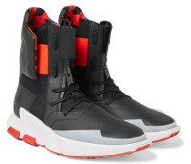Noci 0003 Leather-trimmed Neoprene High-top Sneakers