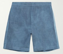 Spray-Dyed Cotton and Lyocell-Blend Elasticated Shorts