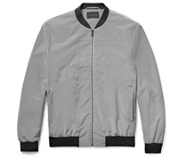Panelled Shell Bomber Jacket