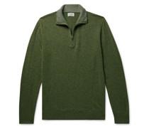 Slim-Fit Wool-Blend Half-Zip Sweater