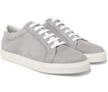 Apollo Full-grain Leather-trimmed Nubuck Sneakers