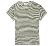 Slim-Fit Striped Linen T-Shirt