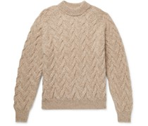 Abi Cable-Knit Baby Alpaca-Blend Sweater