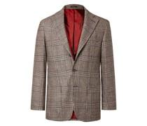 Prince of Wales Checked Virgin Wool-Blend Blazer