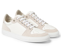 Suede And Textured-leather Sneakers