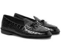 Marphy Croc-effect Leather Loafers