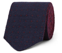 6cm Reversible Polka-Dot Wool-Jacquard Tie