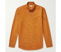 Preston Button-Down Collar Cotton-Twill Shirt