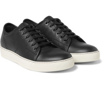 Cap-toe Grained-leather Sneakers