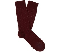 Pin-Dot Merino Wool-Blend Socks