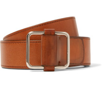 4cm Brown Lorenzo Leather Belt