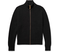 Newson Ribbed Cashmere Zip-up Cardigan