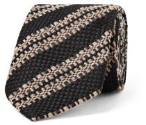 6cm Striped Wool, Silk And Linen-blend Tie