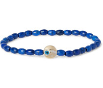 Glass Bead And Gold Bracelet