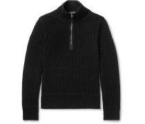 Cotton, Wool And Silk-blend Half-zip Sweater
