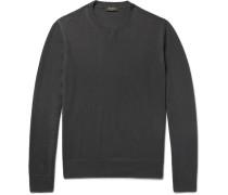 Nubuck-trimmed Cashmere Sweater