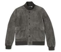 Valstarino Slim-fit Washed-suede Bomber Jacket