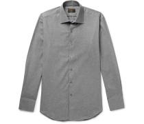 Slim-fit Brushed-cotton Shirt