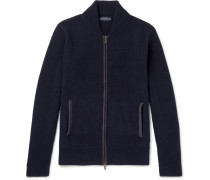 Slim-fit Cashmere And Wool-blend Zip-up Cardigan