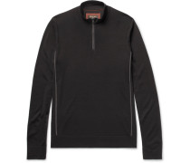 Slim-fit Virgin Wool Half-zip Sweater