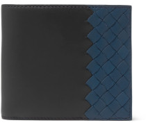 Two-tone Intrecciato Leather Billfold Wallet