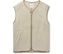 Victor Piped Brushed Wool-Blend Gilet