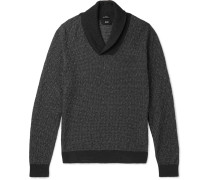 Baik Shawl-collar Cotton And Cashmere-blend Sweater