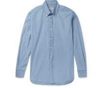 Slim-fit Button-down Collar Denim Shirt