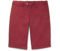 Slim-fit Stretch-cotton Twill Shorts