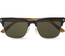 Louis D-frame Rose Gold-tone And Acetate Sunglasses