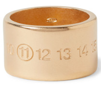 Engraved Gold-plated Ring