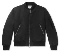 Padded Cotton-Blend Twill Bomber Jacket