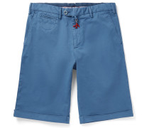 Slim-Fit Stretch-Cotton Twill Bermuda Shorts