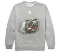 Monkey Brothers Cuban-fit Printed Fleece-back Cotton-jersey Sweatshirt