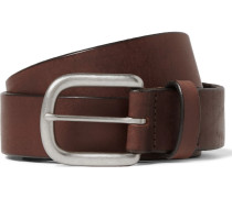 3.5cm Brown Auster Arrowhead Leather Belt