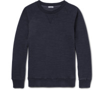 Indigo-dyed Loopback Cotton-jersey Sweatshirt