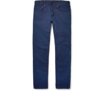 Slim-fit Stretch-cotton Twill Jeans