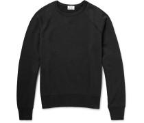 College Loopback Cotton-jersey Sweatshirt