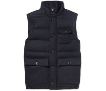 Wool-flannel Down Gilet