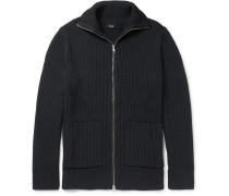 Ronzons Ribbed-knit Zip-up Cardigan