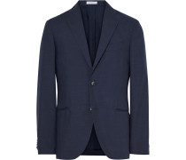 Blue K-jacket Slim-fit Wool And Mohair-blend Blazer