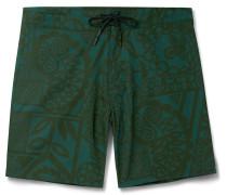 Evolution Mid-length Printed Swim Shorts